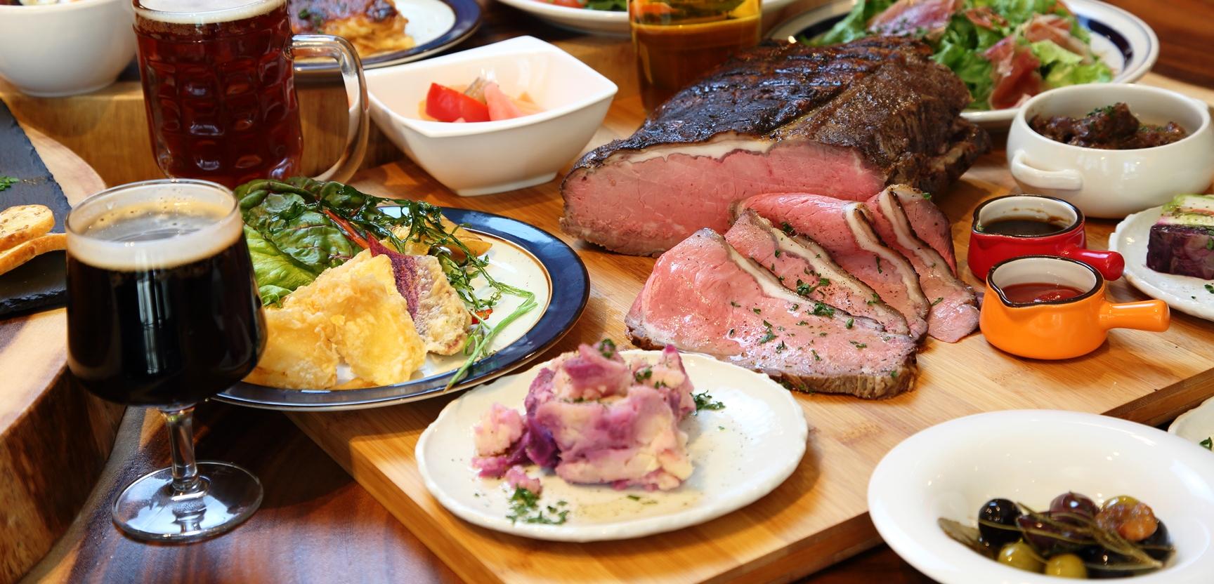 塊肉ローストをメインにした肉ビストロ