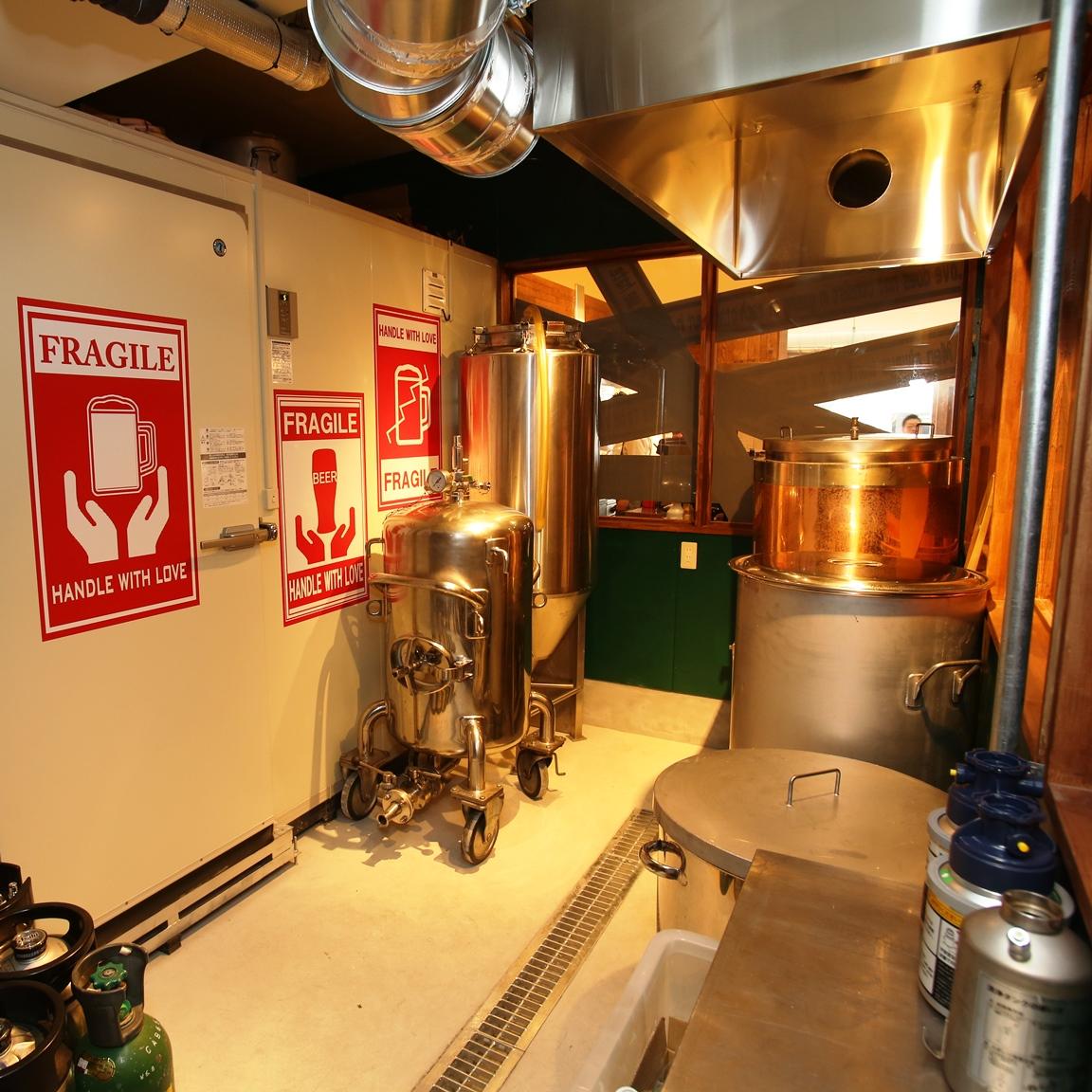 小規模ビール工場を併設したビアダイニング